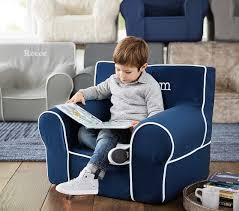 Pottery Barn Kids Bean Bag Chairs Navy With White Piping Anywhere Chair Pottery Barn Kids
