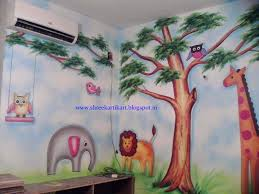 play wall painting 3d cartoon painting painting