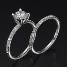 engagement rings sets swarovski pb wedding bridal set ballerina premier 1 carat