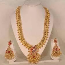 long necklace set images Beautiful south indian long necklace set jewelry south indian jpg