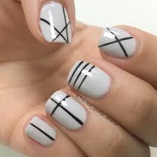 geometric lines nail art design nail art pinterest manicure