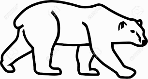 polar bear outline coloring pages coloring pages