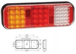narva 2x 94210 led combination rear tail lights stop indicator