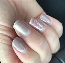 pure nails halo uv gel polish rose gold sparkle amazon co uk beauty
