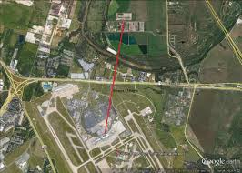Austin Bergstrom Airport Map by Hornsby Bend