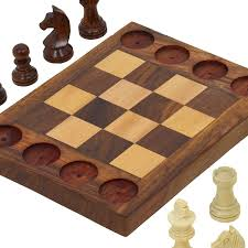 amazon com handmade wooden beginners chess set cross between