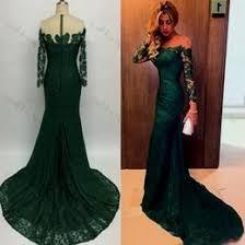 emerald green mermaid prom dress naf dresses