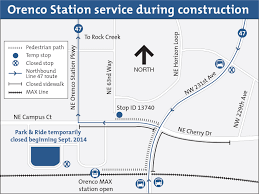 Trimet Max Map Trimet U0027s Orenco Park U0026 Ride To Close And Bus Line 47 Stop To Be