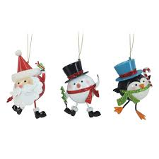 nicholas square glitter santa u0026 friends christmas ornaments 3