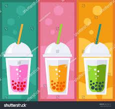 cocktail illustration bubble tea tea cocktail illustration bubble stock illustration