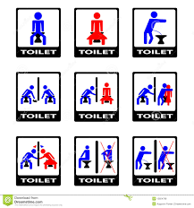 6 funny toilet sign royalty free stock photos image 15854798