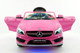 pink mercedes amg mercedes cla45 amg 12v kids ride on car with parental remote pink