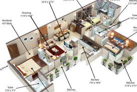 1BHK Tower D 3D Floor Plan Service 2BHK Tower B 3D Floor Plan Real