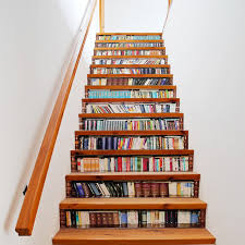 stair bookcase bookcase wall stickers mural stair decal book and story creative