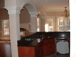 exellent black granite countertops oak cabinets kitchen