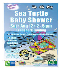 turtle baby shower pensacola advocates sea turtle baby shower celebrates