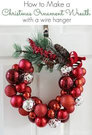 deck the halls with this easy to make wire hanger ornament wreath