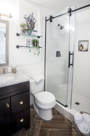 best 25 small master bathroom ideas ideas on pinterest small incorporating lots of white and clear glass helped make the bathroom feel deceptively large and airy