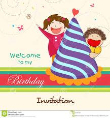 birthday invitation card with stock photo image 47582781