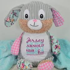 monogrammed bunny bears kids toys personalized gift personalized stuffed animal