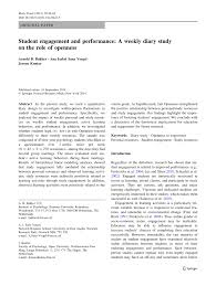 student engagement and performance a weekly diary study on the