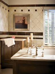 contempo image of bathroom decoration using diagonal travertine