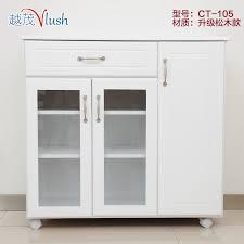 Kitchen Side Table Wood Sideboard Tea Cupboard Cupboards White Minimalist Modern