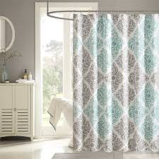 Teal And Grey Bathroom by Bathroom Horizontal Stripe Extra Long Shower Curtains In Grey For