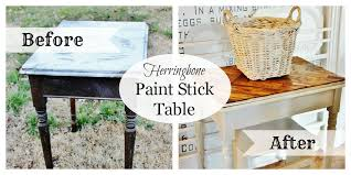 How To Paint A Table Paint Stick Table Top Thistlewood Farm