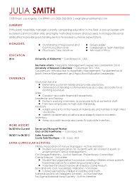 plumber resume sample resume templates customer service advisor myperfectresumecom professional hospitality manager templates to showcase your talent myperfectresume