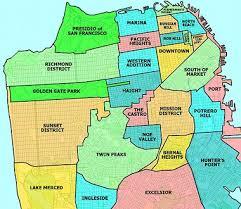san francisco on map san francisco neighborhoods maps places california here i