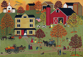 home for thanksgiving painting by medana gabbard
