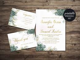 printable wedding invitation floral wedding invitation set