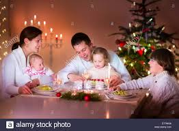 big happy family with three children enjoying