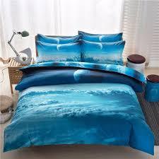 Galaxy Bed Set Shop For 3d Blue Galaxy Bedding Set Nebula Clouds 4pcs Duvet