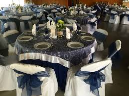 navy blue table linens navy blue table cloth with white organza swirl overlay blue