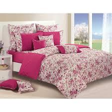 Swayam White N Pink Floral Swayam Cotton Single Bed Sheet Set Par2712 Bed Sheets Homeshop18