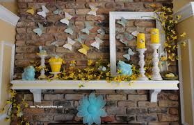 Easter Decorations Using Paper by Using Paper Products To Help Decorate Your Fireplace For Spring