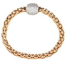 magnetic bracelet gold plated images Pave magnetic bracelet rose gold plated on sterling silver jpg