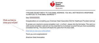 e card notice how to claim your aha ecard 2017 start cpr 1st