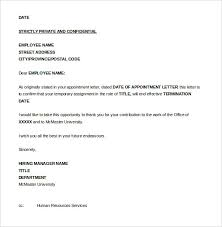 termination of employment letter template 13 job termination