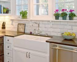 Farmhouse Sinks For Kitchens Fascinating Farmhouse Inspired Kitchen White Porcelain Sink
