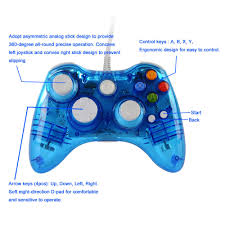 glow light usb wired controller gamepad joystick for microsoft