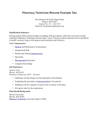 Resume Examples For Jobs With No Experience by Pharmacy Technician Cover Letter Sample No Experience Guamreview Com