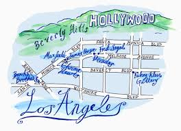 Map Los Angeles Los Angeles Hand Drawn Map Los Angeles U2022 Mappery