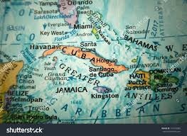 Caribbean Sea On Map by Caribbean Sea On Globe Stock Photo 117243385 Shutterstock