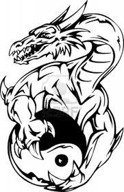 tribal and yin yang design