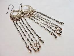 earrings and things chandelier tassel chain earrings rings and things