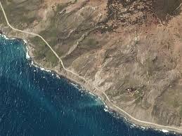 Big Sur Map Big Sur Landslide On Highway 1 Satellite Photos Before And After