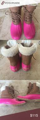 womens sperry duck boots size 9 sperry pink duck boots size 9 womens worn once lined